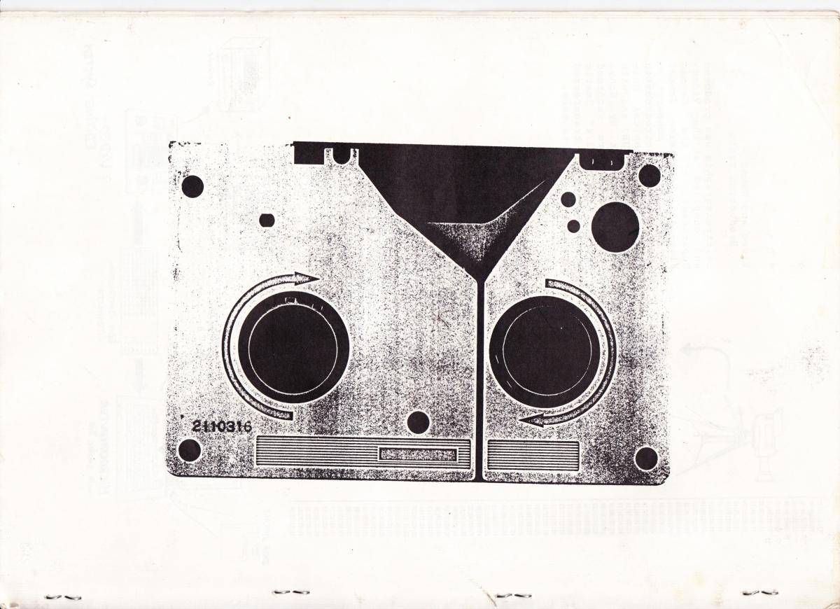 Photocopy of a U-matic video cassette.