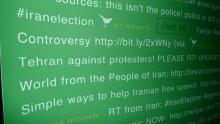 Iranelection banner closeup, Courtesy of Digital Methods Initiative