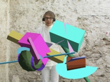 Public Sculpture, Screen capture of custom software performance, 2009, Jeremy Ba