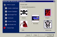 Suicide Letter Wizard for Microsoft by Olga Goriunova