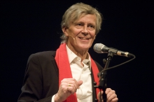 Picture of Derrick de Kerckhove at the Opening Ceremony of transmediale.11 RESPONSE:ABILITY
