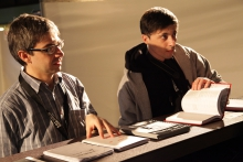 Picture of Alessandro Ludovico and Paoplo Cirio at transmediale.11 REPONSE:ABILITY