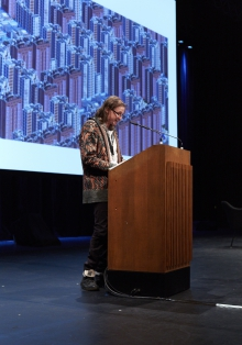 "Picture of McKenzie Wark at ""Keynote Capture All_Play"""