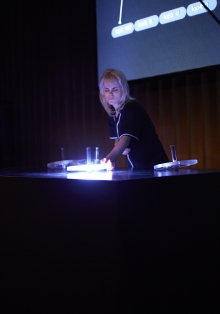 "Picture of ""Toys of the Future"", performance by and with Myriam Bleau"