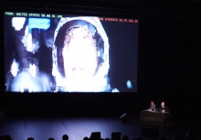 """Picture of Brendan Howell (left) and Nicolas Maigret (right) at """"The Pirate Cinema"""""""