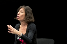 "Picture of Simona Levi at the panel ""MediaActs"""
