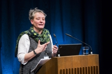 """Picture of Jutta Weber at the Keynote Conversation """"Anxious to Make"""""""