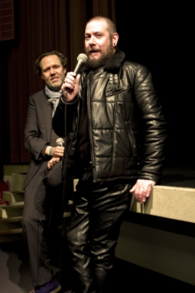 Picture of Marcel Schwierin in conversation with Luther Price