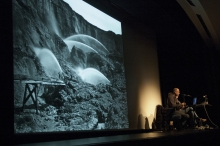 "Picture of Trevor Paglen at ""Military Trash, Invisibilities and Temporalities"""