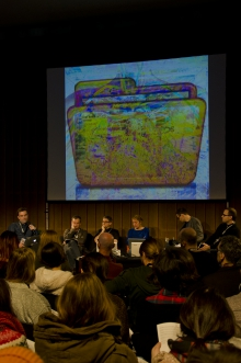"""Impression of the """"Post-digital research"""" panel"""