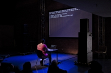 """Picture of """"Error_in_Time"""", performance by Nacy Mauro-Flude"""