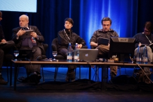 "Picture of Mey Lean Kronemann (center) at ""After the revolution(s): Internet freedoms and the post-digital twilight"""
