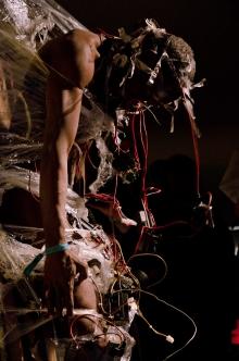 """Picture of """"Afamako"""", performance by Jelili Atiku"""