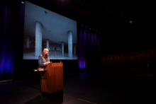 """Picture of Jamie Allen at """"afterglow effects: transmediale 2014 opening ceremony"""""""
