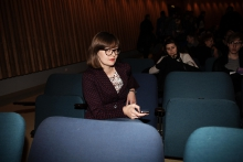 """Audience at """"afterglow effects: transmediale 2014 opening ceremony"""""""