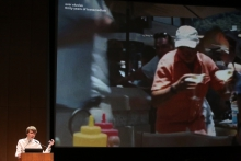 Kristoffer Gansing at the transmediale Opening Ceremony 2017