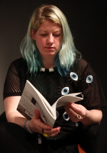 """Rosa Menkman at """"Machine Research – Infrastructures"""", transmediale 2017"""