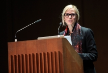 """Lisa Parks at """"Becoming Infrastructural – Becoming Environmental"""", transmediale 2017 ever elusive."""