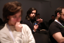 "Question from the audience at ""Machine Research – Interfaces"", transmediale 2017"