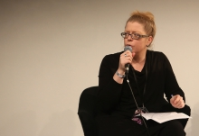 "Inke Arns introducing the talk ""Dulling Down"", transmediale 2017"