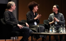 "Impression of the Keynote Conversation ""Strange Ecologies: From Necropolitics to Reproductive Revolutions"", transmediale 2017"