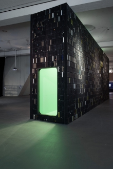 """Video Palace #44 – The Hidden Universe by Joep van Liefland at the exhibition """"alien matter"""", transmediale 2017"""