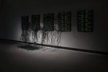 """XXXX.XXX by Addie Wagenknecht at the exhibition """"alien matter"""", transmediale 2017"""
