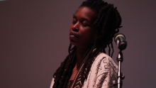 """Moor Mother performing """"Ritual Causality 003"""", transmediale 2017"""