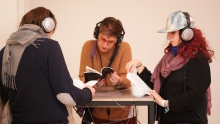 """Black Quantum Futurism Theory & Practice incl. Soundwaves, installation at the transmediale Excursion """"Imaginaries"""""""