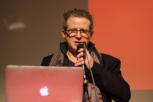 "Baruch Gottlieb at ""Telekommunist International: The Delegate Assembly"", transmediale 2017."