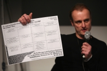 """Florian Wüst at """"Technology Languages of the Past, Present, and Future"""", transmediale 2017 ever elusive."""