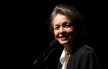 """Laurie Anderson performing """"The Language of the Future"""" at transmediale 2017 ever elusive"""