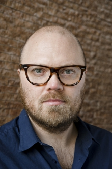 Portrait of Jacob Lillemose, curator of the exhibition at transmediale 2012