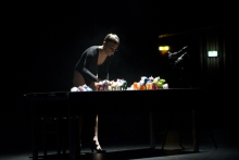 "Anus B. Haven performing in ""BWPWAP Desire Eier Haben"", transmediale 2013 BWPWAP."