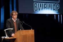 Bernd Scherer at the Opening Ceremony of transmediale 2013 BWPWAP