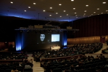 """Impression of the panel """"Panel Anonymous Codes: Disruption, Virality and the Lulz"""", transmediale 2012 in/compatible."""
