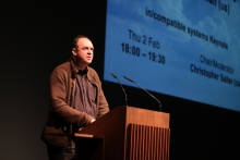 """Keynote """"Everything Is Not Connected"""" by Graham Harman, transmediale 2012 in/compatible."""