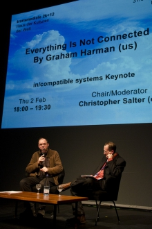 Chris Salter in conversation with Graham Harman, transmediale 2012 in/compatible.