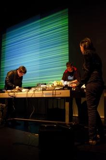 """ideomotoric chatroom"" by Billy Roisz, dieb13 & Mario de Vega, transmediale 2012 in/compatible"