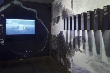 "Sprawling Swamps by Femke Herregraven, part of the exhibition ""Territories of Complicity"" shown at transmediale 2018 face value."