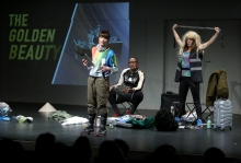 """Impression of """"HOSTEL Sequel #1: Please Be Careful Out There, Lisa Marie – Hybrid Version"""" at transmediale 2018 face value"""