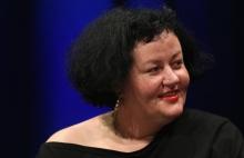 "Ewa Majewska at the panel ""The Many Faces of Fascism"" at transmediale 2018 face value."