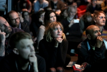 """Audience at """"Unpacking Finding Fanon: Media Minerals"""", transmediale 2018 face value"""