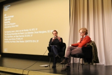 "Florian Wüst in conversation with Oscar Mangione after the screening ""Global Exchange"""