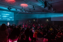 Marija Bozinovska Jones' performance Fascia 18100619013 at transmediale 2019