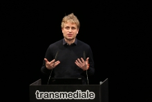 Stefan Wellgraf during Structures of Feeling – transmediale 2019 Opening