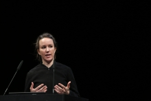 Hannah Davis during Structures of Feeling – transmediale 2019 Opening