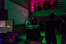 DJ ShluchT at the CryptoRave #8
