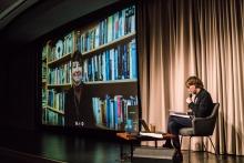 Trine Bjørkmann Berry in conversation with Kristoffer Gansing during Videoblogging before YouTube