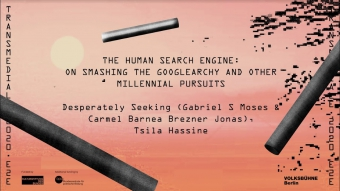 THE HUMAN SEARCH ENGINE: On Smashing the Googlearchy and Other Millennial Pursuits